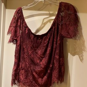 NWOT American Eagle outfitters burgundy blouse